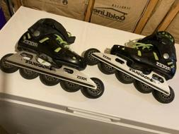 Roces 5-wheel Inline Skates Racing - Roces knee guards, and