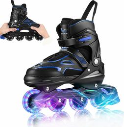 Best Inline Skates Adult Kids Size 7,8,9,10 Adjustable Rolle