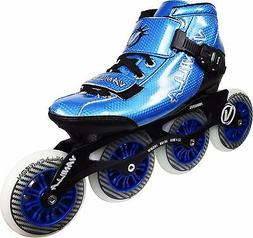 Blue VNLA Carbon Inline Speed Skates 4 X 100mm Wheels With F