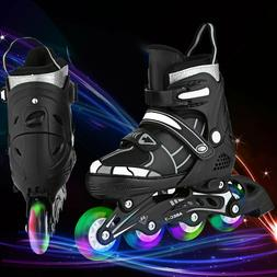 Girls Boys Inline Skates Adjustable for Kids Roller Skates I