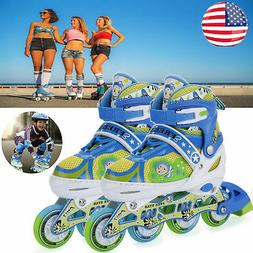 Inline Skates Girls Boys Roller Blades Kids Child Roller Bla