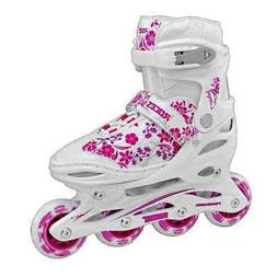 Roces Kid's Girls Compy Fitness Inline Skates Blades White/P