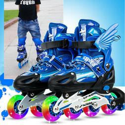 Kids Child Inline Skates Roller Skating Shoes Adjustable Col