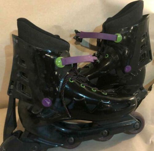black purple and green rollerblade fitness skate