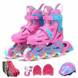 Roller Skates Children's Full Set Flash Adjustable Inline Sk
